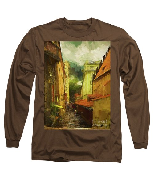 Long Sleeve T-Shirt featuring the photograph And Then It Rained by Leigh Kemp