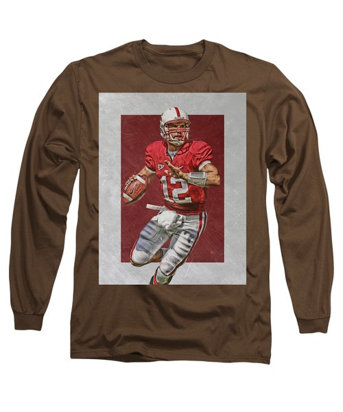 Andrew Luck Stanford Cardinals Art Long Sleeve T-Shirt
