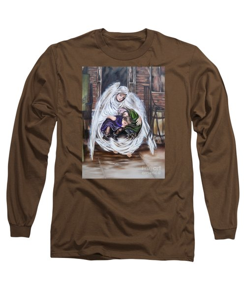 Long Sleeve T-Shirt featuring the painting Angel And The Orphans by Sigrid Tune