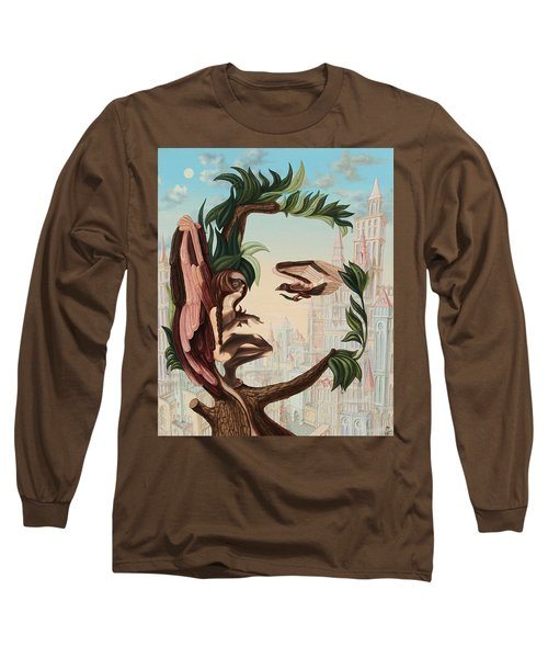 Angel, Watching The Reincarnation Of Marilyn Monroe On The Swinging City Towers Long Sleeve T-Shirt