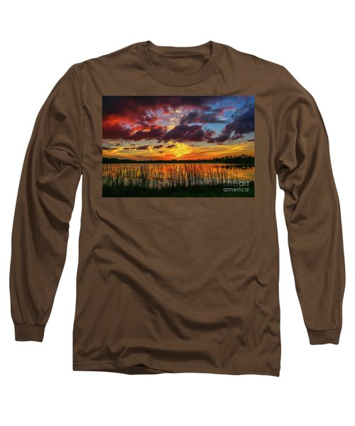 Angry Cloud Sunset Long Sleeve T-Shirt