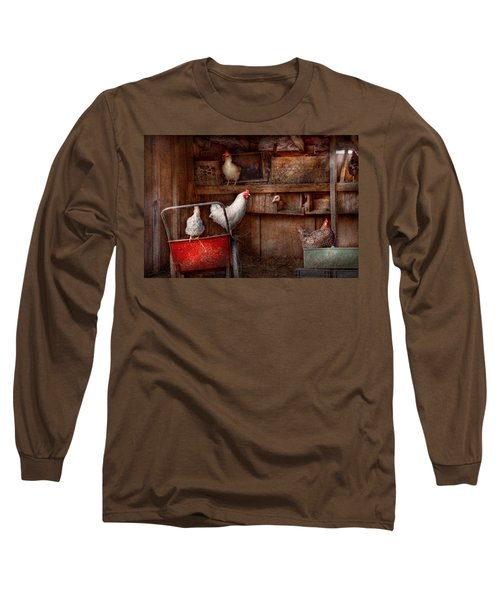 Animal - Chicken - The Duck Is A Spy  Long Sleeve T-Shirt