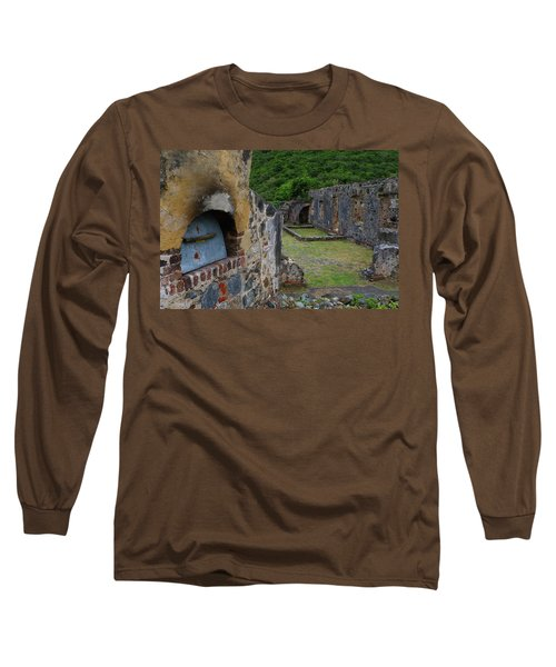 Long Sleeve T-Shirt featuring the photograph Annaberg Sugar Mill Ruins At U.s. Virgin Islands National Park by Jetson Nguyen