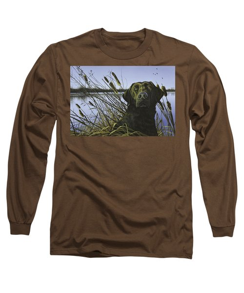 Anticipation - Black Lab Long Sleeve T-Shirt