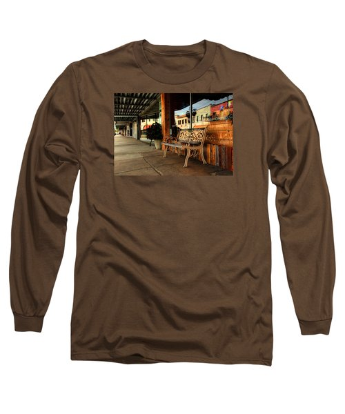 Antique Bench Long Sleeve T-Shirt by Ester Rogers