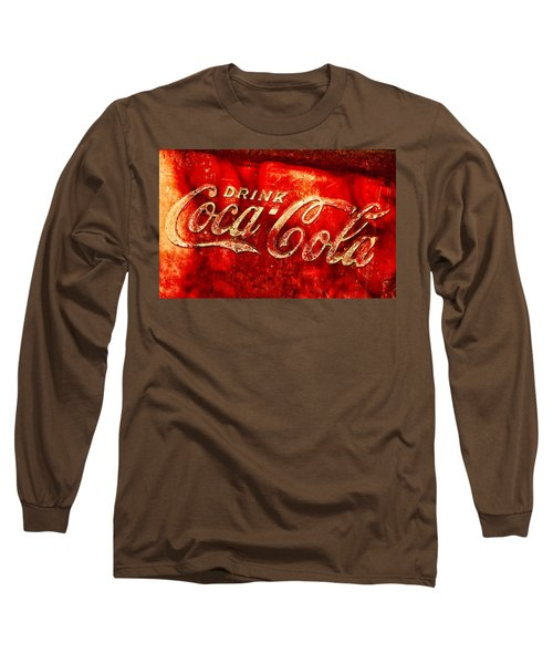 Antique Coca-cola Cooler Long Sleeve T-Shirt by Stephen Anderson