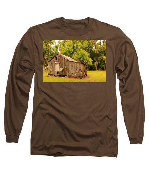 Antique Shed Long Sleeve T-Shirt by Ronald Olivier