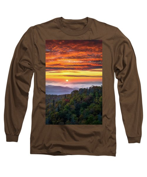 Appalachian Mountains Asheville North Carolina Blue Ridge Parkway Nc Scenic Landscape Long Sleeve T-Shirt