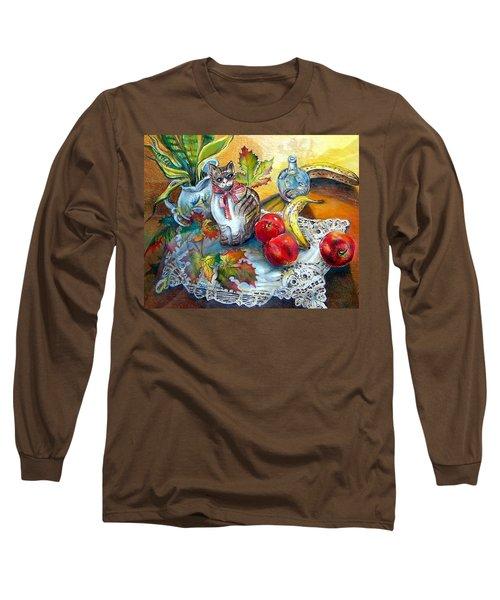 Apple Cat Long Sleeve T-Shirt