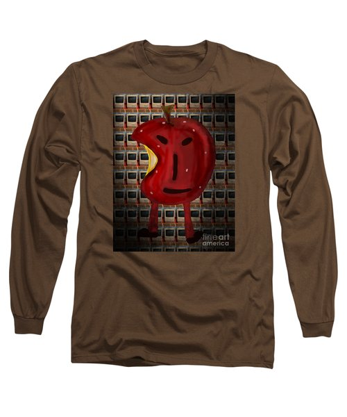 Long Sleeve T-Shirt featuring the digital art Apple Head by Megan Dirsa-DuBois