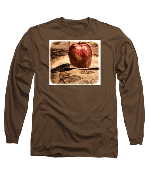 Long Sleeve T-Shirt featuring the photograph Apple by Lawrence Burry
