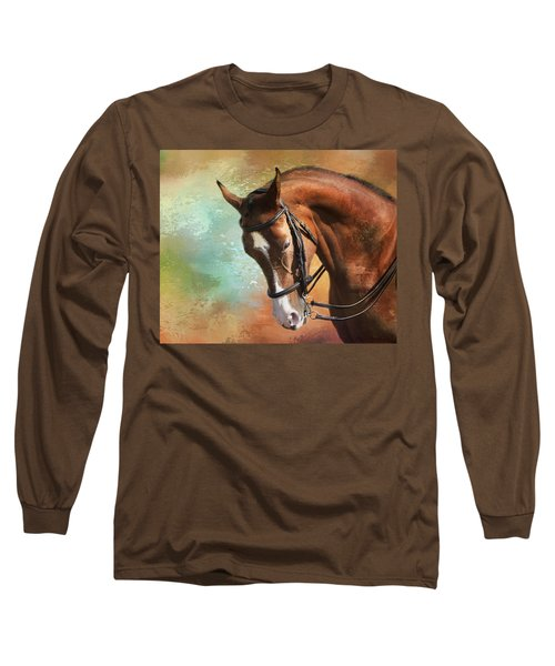 Long Sleeve T-Shirt featuring the photograph Arabian Horse by Theresa Tahara