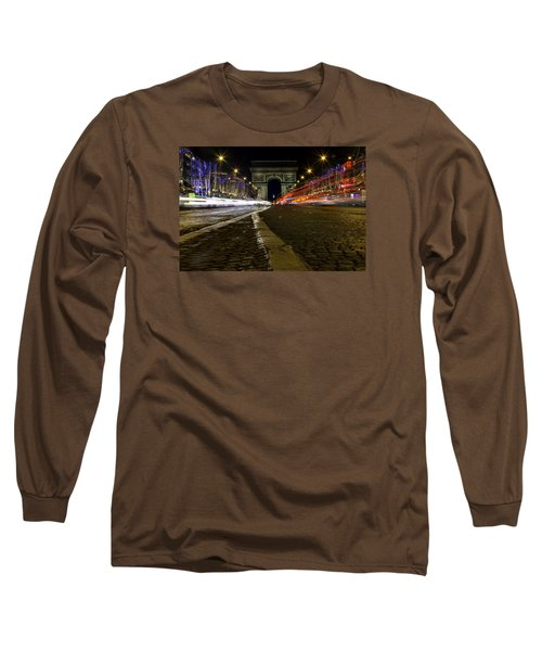Arc D'triumph With Stripes Long Sleeve T-Shirt by Rainer Kersten