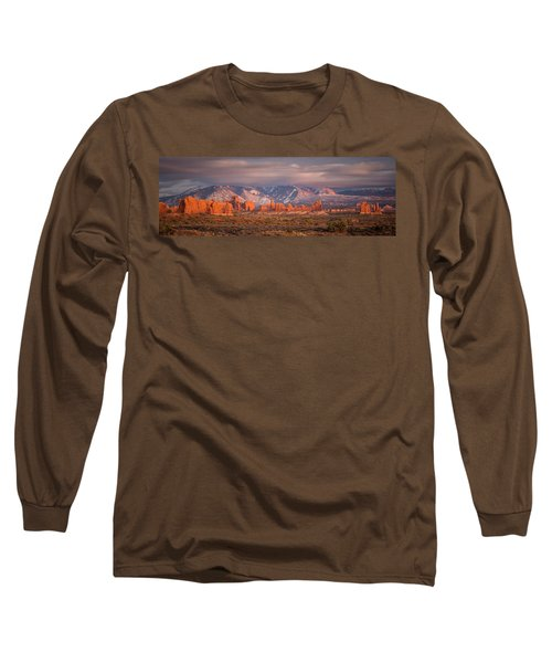 Arches National Park Pano Long Sleeve T-Shirt