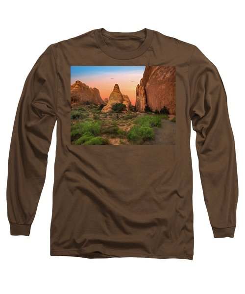 Arches National Park Sunset Long Sleeve T-Shirt