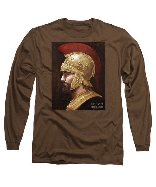 Long Sleeve T-Shirt featuring the painting Ares by Arturas Slapsys