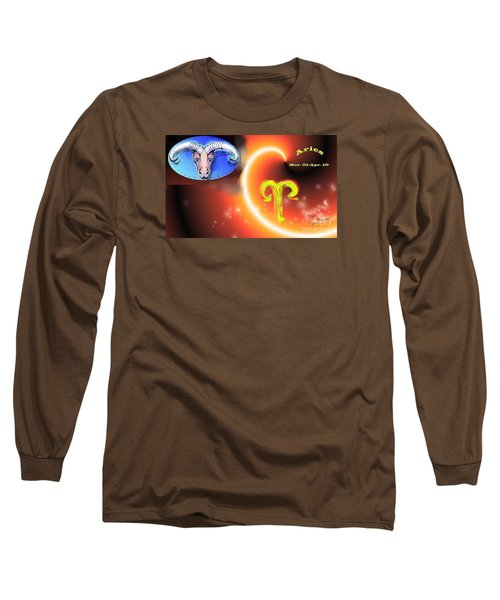 Long Sleeve T-Shirt featuring the painting Aries by The Art of Alice Terrill