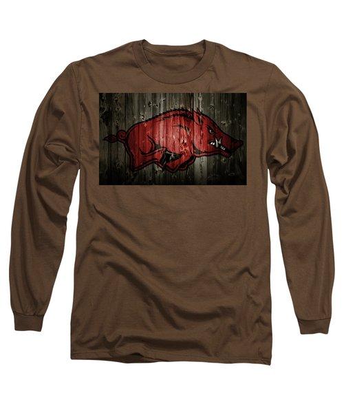 Arkansas Razorbacks 2b Long Sleeve T-Shirt by Brian Reaves