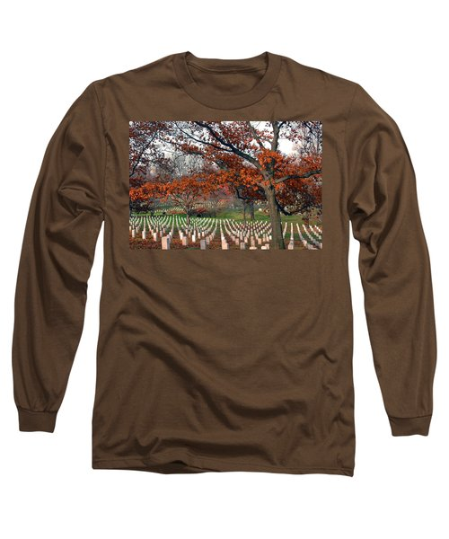 Arlington Cemetery In Fall Long Sleeve T-Shirt
