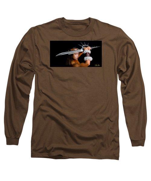 Armed And Dangerous Long Sleeve T-Shirt by Rikk Flohr