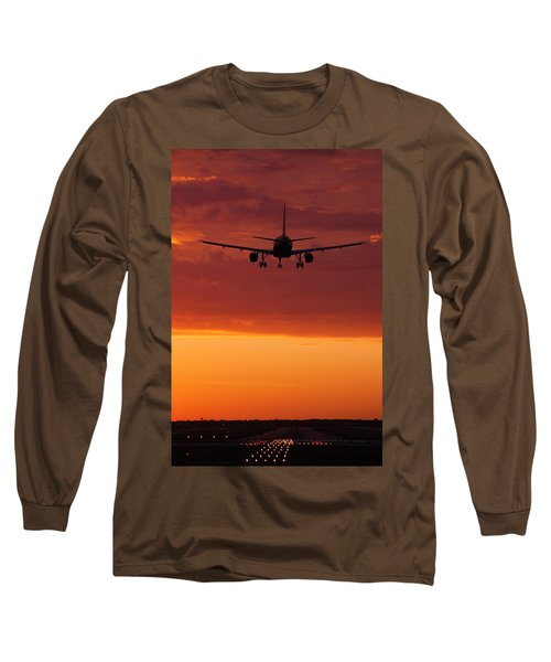Arriving At Day's End Long Sleeve T-Shirt by Andrew Soundarajan