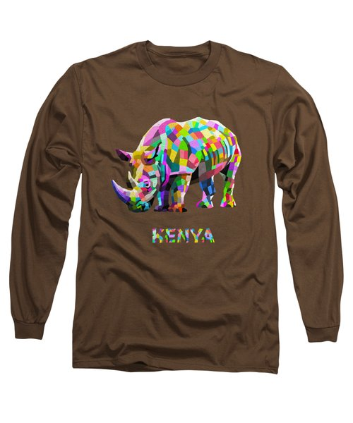 Long Sleeve T-Shirt featuring the painting Wild Rainbow by Anthony Mwangi