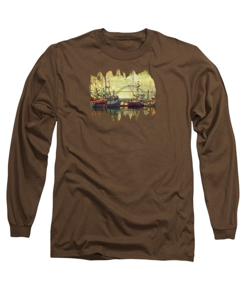 The Fishing Fleet In Yaquina Bay Long Sleeve T-Shirt by Thom Zehrfeld