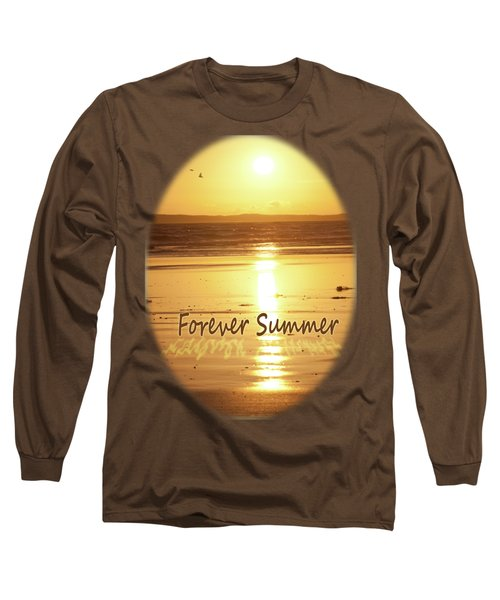 Long Sleeve T-Shirt featuring the photograph Forever Summer 4 by Linda Lees