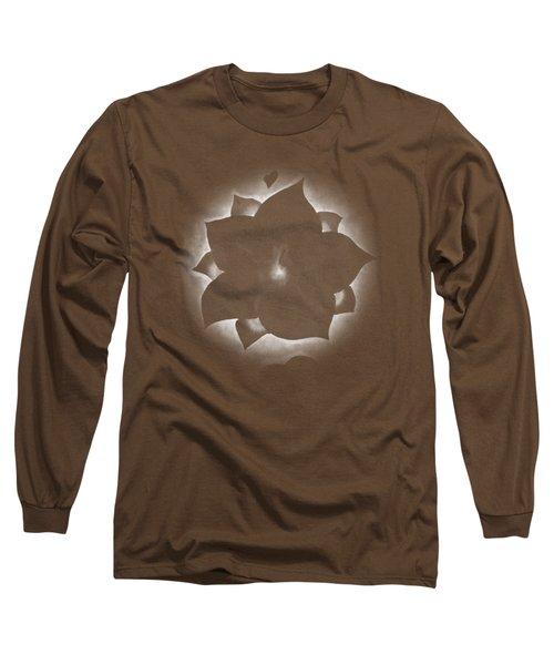 Fleur Et Coeurs Monochrome Long Sleeve T-Shirt