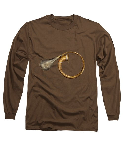 Antique Brass Car Horn Long Sleeve T-Shirt by YoPedro
