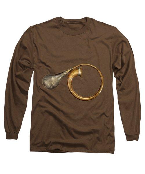 Antique Brass Car Horn Long Sleeve T-Shirt