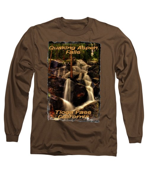 Quaking Aspen Falls Along Tioga Pass  Long Sleeve T-Shirt by Roger Passman