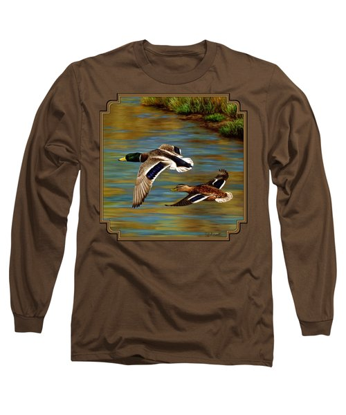 Golden Pond Long Sleeve T-Shirt by Crista Forest