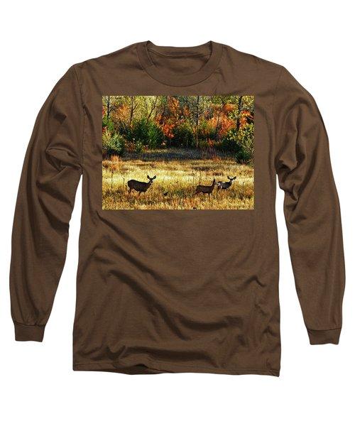Deer Autumn Long Sleeve T-Shirt