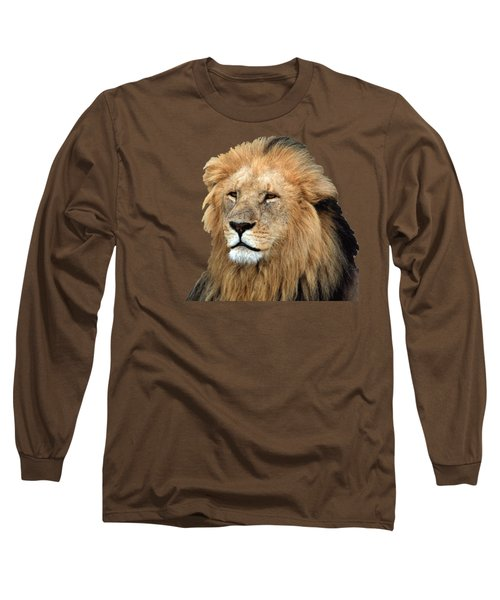 Long Sleeve T-Shirt featuring the photograph Masai Mara Lion Portrait    by Aidan Moran