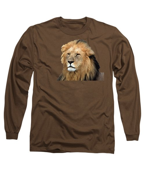 Masai Mara Lion Portrait    Long Sleeve T-Shirt