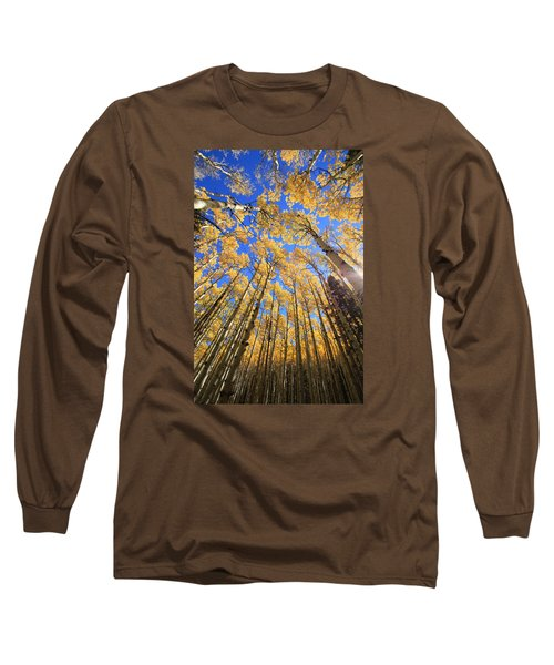 Long Sleeve T-Shirt featuring the photograph Aspen Hues by Tom Kelly