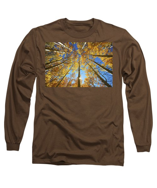 Aspen Tree Canopy 2 Long Sleeve T-Shirt by Ron Dahlquist - Printscapes