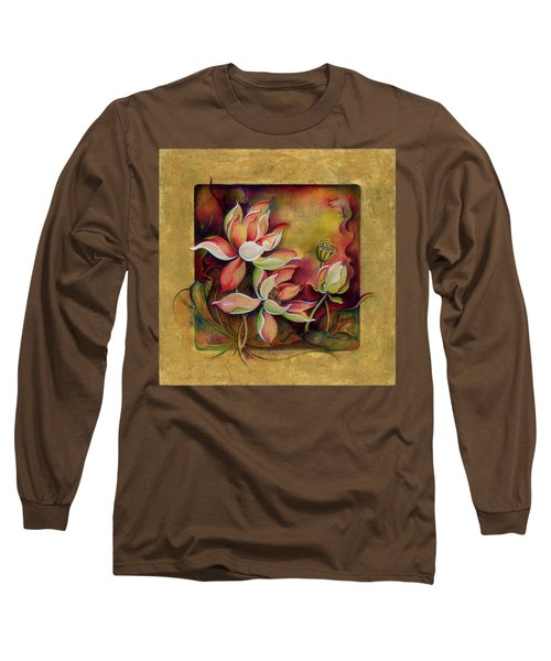 Long Sleeve T-Shirt featuring the painting At A Family Wander by Anna Ewa Miarczynska