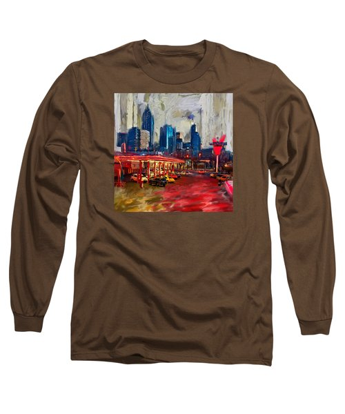 Atlanta Skyline 231 1 Long Sleeve T-Shirt by Mawra Tahreem