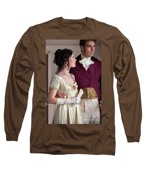 Attractive Regency Couple Long Sleeve T-Shirt by Lee Avison