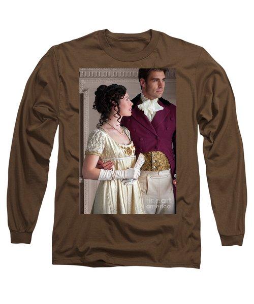 Attractive Regency Couple Long Sleeve T-Shirt by Lee Avison