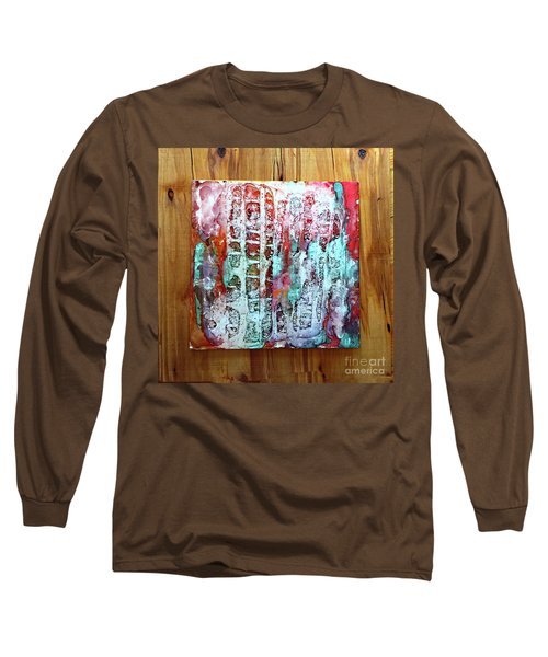 Ausangate Waterfalls Long Sleeve T-Shirt by Alene Sirott-Cope