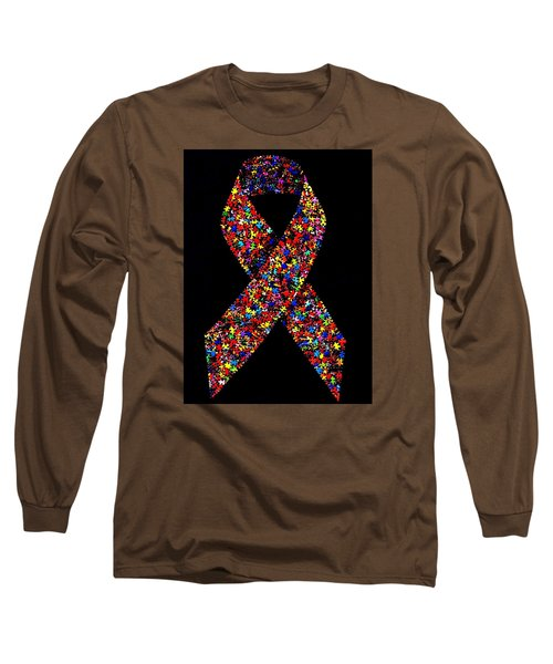 Autism Awareness Ribbon  Long Sleeve T-Shirt