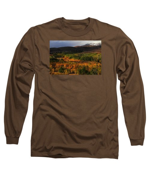 Autumn Aspen At Conway Summit In The Eastern Sierras Long Sleeve T-Shirt by Jetson Nguyen