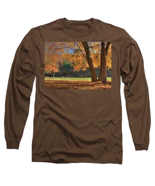 Long Sleeve T-Shirt featuring the photograph Autumn At Lykens Glen by Lori Deiter