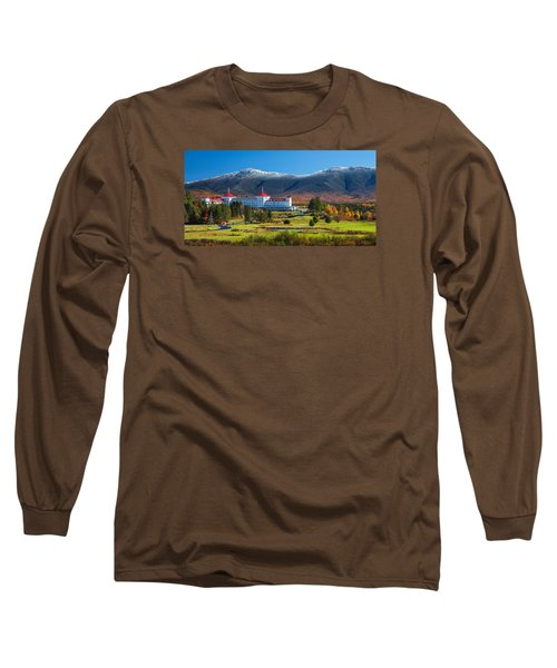 Autumn At The Mount Washington Crop Long Sleeve T-Shirt
