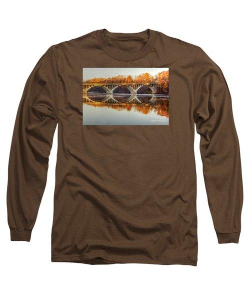 Autumn Bridge Reflections Long Sleeve T-Shirt
