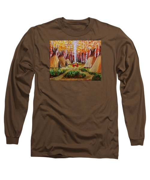 Autumn Camp Long Sleeve T-Shirt by Mike Caitham