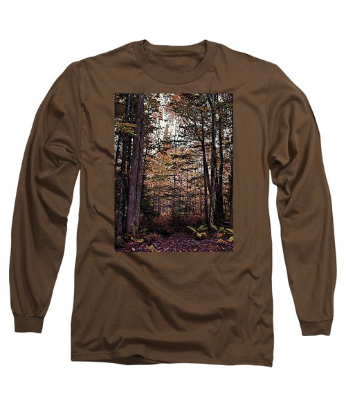 Autumn Color In The Woods Long Sleeve T-Shirt by Joy Nichols